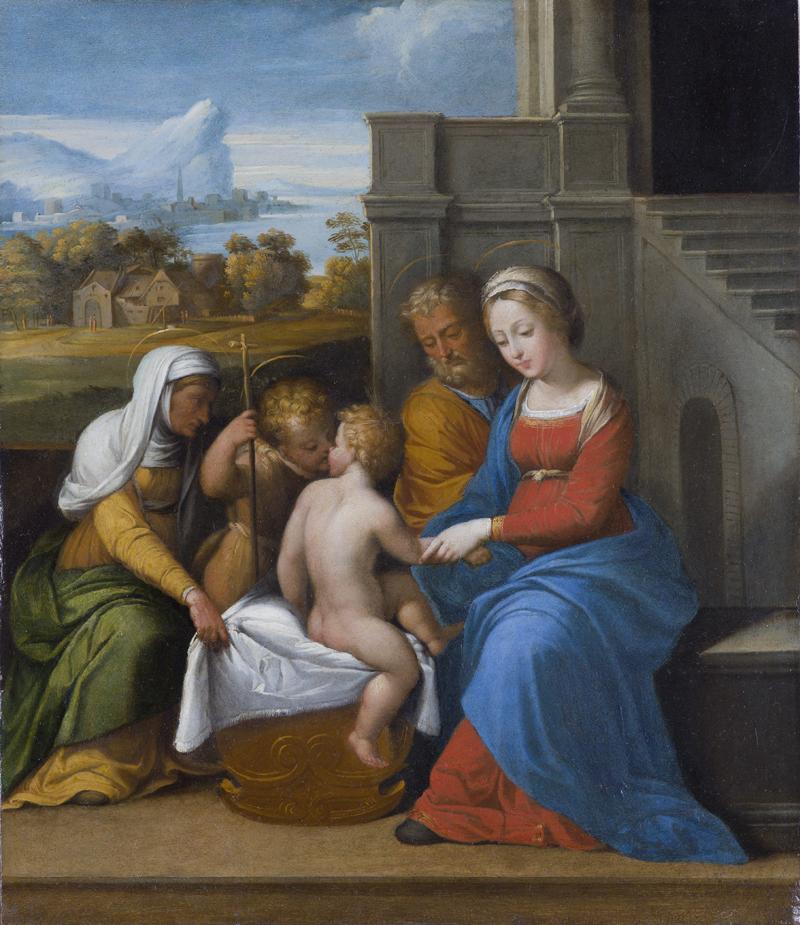 Sacra famiglia con San Giovannino e Sant'Elisabetta