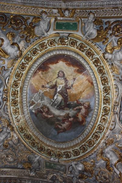 San Giovanni Battista dei Fiorentini Cappella Benozzi di Antonio Tempesta prima del restauro - robertanadali.com