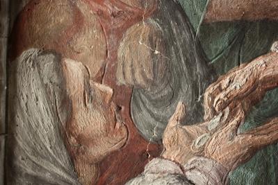 San Giovanni Battista dei Fiorentini Cappella Benozzi di Antonio Tempesta durante il restauro: incisioni - robertanadali.com