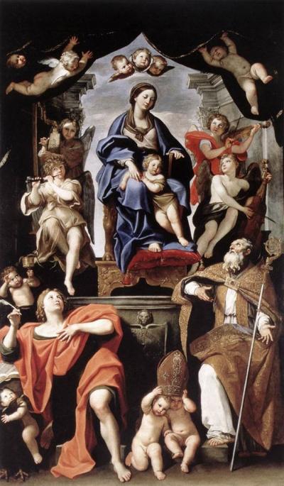 Madonna con Bambino e i Santi Petronio e Giovanni Evangelista dopo il restauro - robertanadali.com