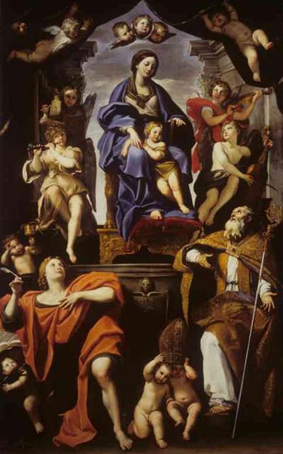 Madonna con Bambino e i Santi Petronio e Giovanni Evangelista prima del restauro - robertanadali.com
