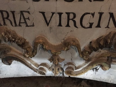 Rocca di Santo Stefano - Stemma con iscrizione prima del restauro - robertanadali.com