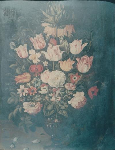 Vaso di fiori di Osias Beert prima del restauro - robertanadali.com