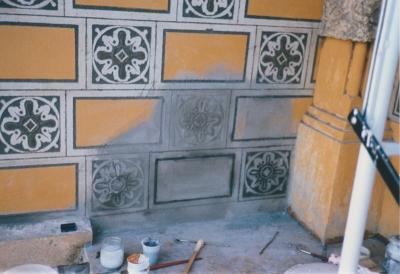 Villino Storico nel Quartiere - Esterno durante il restauro - robertanadali.com