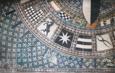 Villino Storico nel Quartiere - Soffitto durante il restauro: tasselli - robertanadali.com